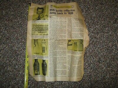 $5.99 • Buy 1970's TEXAS A&M MILK BOTTLE COLLECTING BY ARCH MEEKMA HOARDS DAIRYMAN