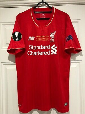 £80 • Buy 2015-16 Liverpool Home Shirt - Large -*Europa League Final Insignia + Patches*