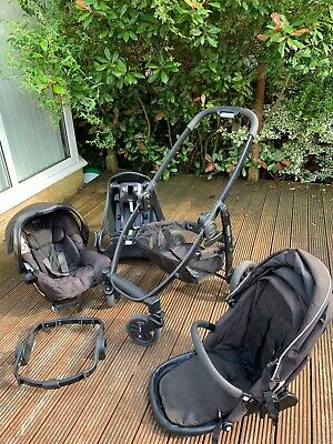 Graco Evo Black Complete Travel System With Extra Accessories. Pram Car Seat  • 20£