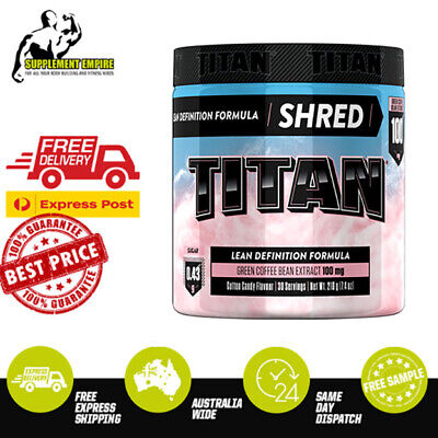 AU39.90 • Buy Titan ARENA Shred Fat Burner Weight Loss Thermogenic Oxyshred GET LEAN Ripped