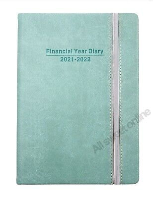AU14.95 • Buy 2021 2022 Financial Year Diary Jade Green Cover With Elastic Week To View A5