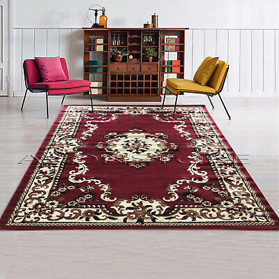 Luxury Traditional Area Rug Floral Design Classic Room Soft Chep Rugs Runner Mat • 17.49£