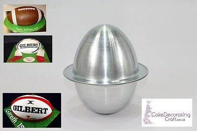 3D Novelty Cake Baking Tins And Pans | 3D Rugby Ball Cake Shape  • 13.99£