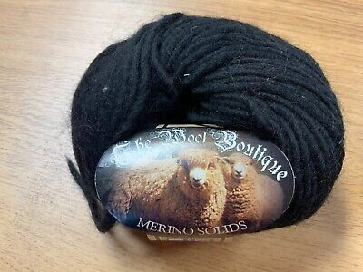 CLEARANCE SALE* 100% MERINO WOOL (also For Felting)  70m X 50g  Black  • 2£
