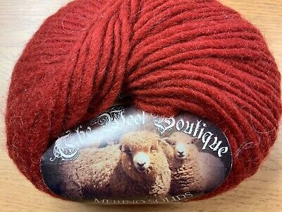 CLEARANCE SALE* 100% MERINO WOOL (also For Felting)  70m X 50g  Rust • 2£