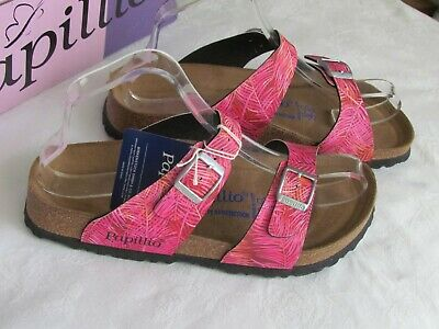 NEW Papillio Ladies Pink Floral SOFT FOOTBED Mules Sandals UK Size 5 EU 38 • 69.99£