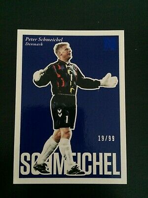 ++ Peter Schmeichel 2017 Nobility Blue Soccer Card #82 - Denmark / Man United ++ • 6.49£