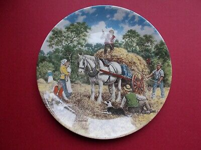 £6 • Buy Wedgwood Plate Life On The Farm 1989 - Haymaking