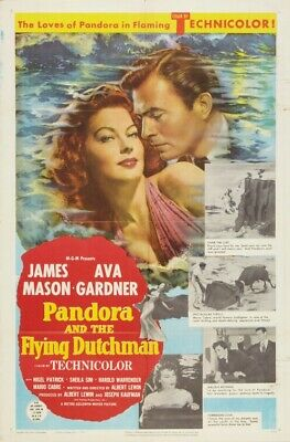 PANDORA & THE FLYING DUTCHMAN (Ava Gardner) Film Poster - Glossy A4 Print  • 7.99£