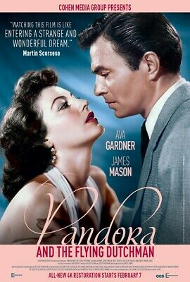 PANDORA & THE FLYING DUTCHMAN (Ava Gardner) Film Poster 2 - Glossy A4 Print  • 7.99£