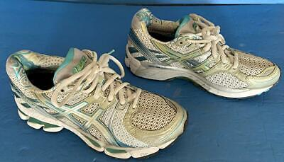 $20 • Buy Asics Womens Gel Kayano 17 T150n Silver Teal Blue Running Athletic Shoes Size 6