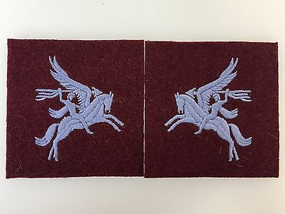 Britain British Army Paratrooper WWII Airborne Pegasus Patches (matched Pair) • 5.95£