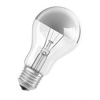 E27 230V 60W Light Bulb Top Silver Crown Reflector Dimmable Incandescent 450lm • 5.70£