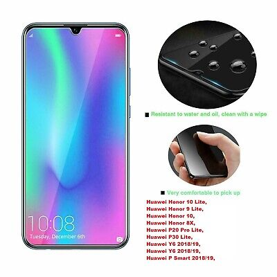 For Huawei P Smart 2019 Y6 Y7 P20 P30 Pro Honor Tempered Glass Screen Protector • 1.59£