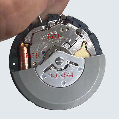 $32.99 • Buy 5M65A Watch Movement Japan Kinetic Date Movement Seiko5m65a Black H3 Date
