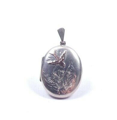 £85 • Buy Vintage Silver Victorian Aestehetic Movement Style Locket Gold Fronted 7.6g