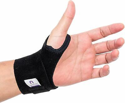 Actesso Black Wrist Hand Support Wrap Strap - Sports Bandage For RSI & Pain • 6.99£