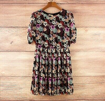 AU25 • Buy Pins And Needles (Urban Outfitters) Floral Pleated Mini Dress Size M (10-12)