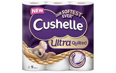 Cushelle Toilet Rolls Quilted 3 Ply 9 Pieces Of 157 Sheets • 9.87£