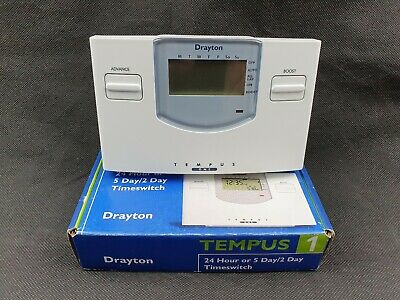 Drayton Tempus 1 24 Hour 5/2 Day Electronic Timeswitch • 94.99£