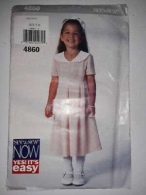 $1.79 • Buy 1997 Butterick Pattern # 4860 Size: A/4-5-6 Uncut With Book