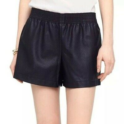 $45 • Buy Club Monaco Faux Leather Black Shorts (Size: 12)