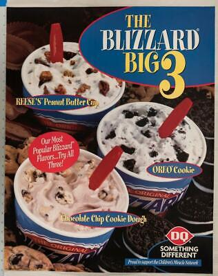 Dairy Queen Poster Blizzard Reese's Peanut Butter Cups Oreo Cookies 22x28 Dq2 • 11.20£