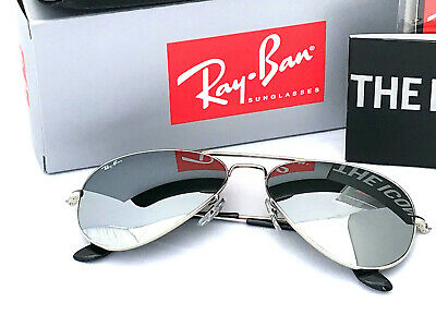 AU104.99 • Buy Ray-ban Aviator Silver Mirror Sunglasses With Silver Frame Rayban Rb3025 Size 58