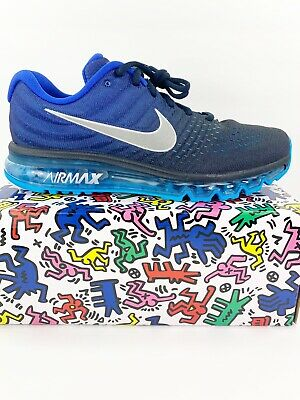 $129.99 • Buy New Nike Air Max 2017 Blue Black Running Shoes Size 10.5 849559-400