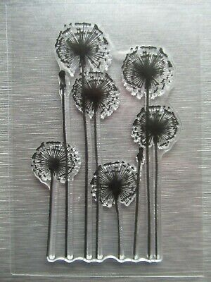 NEW Mini Dandelion Flower Clear Acrylic Stamp Sympathy Thinking Of You FREE P&P • 3.35£