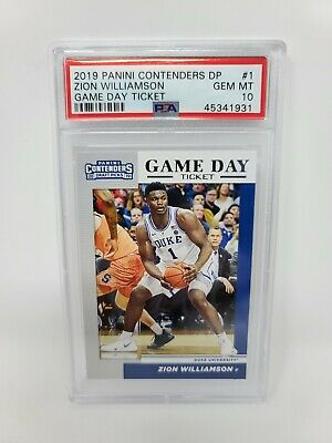 $89.99 • Buy Zion Williamson 2019 Contenders Draft Picks PSA 10 GEM MINT Game Day Ticket RC