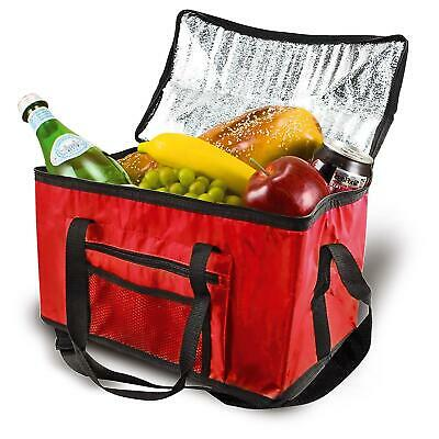 £7.99 • Buy Extra Large Cooling Cooler Cool Bag Box Picnic Camping Food Ice Drink Red 26L