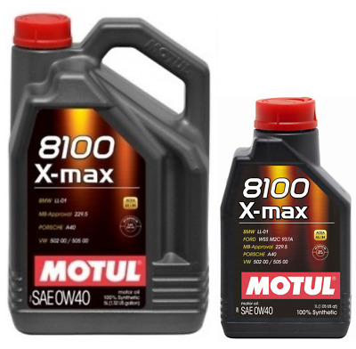 Motul 8100 X-max 0W40 Fully Synthetic Engine Motor Oil WSSM2C937A 505 00 LL-01  • 70.65£