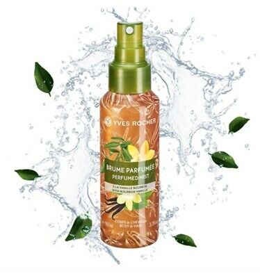AU30.97 • Buy YVES ROCHER BOURBON VANILLA Perfumed Body And Hair Mist Wife Mother Gift 57233