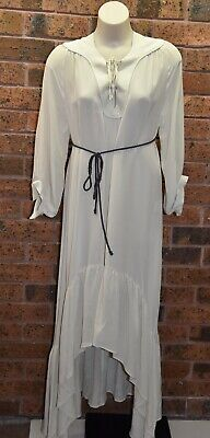£54.65 • Buy WINTER KATE By NICOLE RICHIE Silk Dress In Sand - Size S - EUC