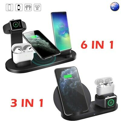 AU25.70 • Buy Fast Qi Wireless Charging Station Charger Stand For IPhone 11 Apple Watch Airpod