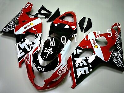 $485 • Buy For GSXR600/750 2004-2005 ABS Injection Mold Bodywork Fairing Kit Cowl Red Black