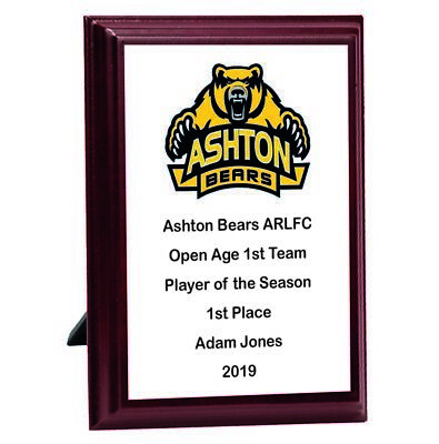 Personalised Engraved   Prize Plaque Great Player Team Award • 9.99£