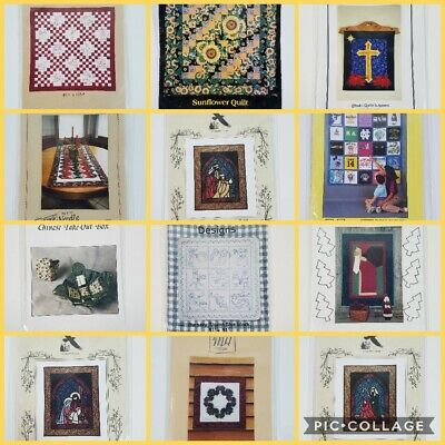 $5.99 • Buy Quilt Pattern Leaflets Choice Applique Embroidery Sewing Wallhanging
