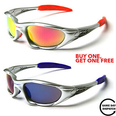 New Mirrored Black XLoop Sport Running Wrap Mens Womens Unisex Sunglasses UV400 • 9.99£