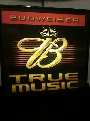$ CDN52.27 • Buy Budweiser -- True Music -lighted Beer   Sign - Rare 2002