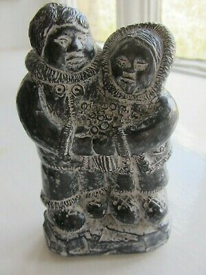 £35.99 • Buy Inuit Stone Hand-Carving Of Couple.  4.5 .