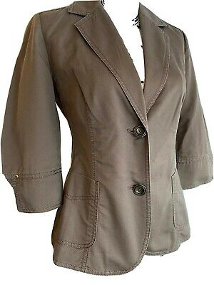 £16.19 • Buy Womens M&S Jacket Sz 10 Brown Fitted Three Quarter Sleeve Smart Casual Spring