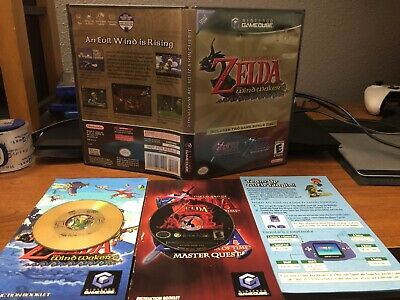$120 • Buy Legend Of Zelda Wind Waker / Ocarina Of Time Master Quest GameCube CIB Complete