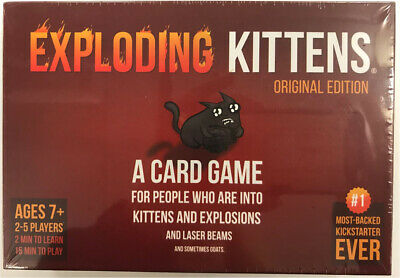 AU32.73 • Buy Exploding Kittens Card Game For 2-5 Players OFFICIAL NEW & SEALED
