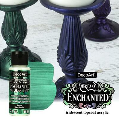 DecoArt Americana Enchanted Iridescent Top Coat Acrylic Paint 59ml 2oz • 3.29£