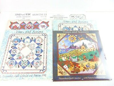$59.99 • Buy Piecemakers Times And Seasons Quilt Calendar & Patterns Lot Of 6