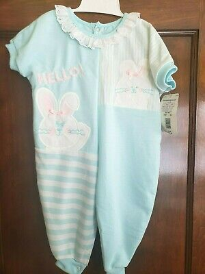 £14.54 • Buy Vintage Buster Brown Baby Girls Pink Bunny Easter Spring One Piece Outfit 12 Mo.