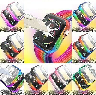 $ CDN9.62 • Buy Apple Watch Series 5/4/3/2/1 40mm 44mm Colorful Full Body Cover Protective Case