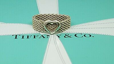 Authentic Tiffany & Co Somerset Mesh Heart Ring • 109£